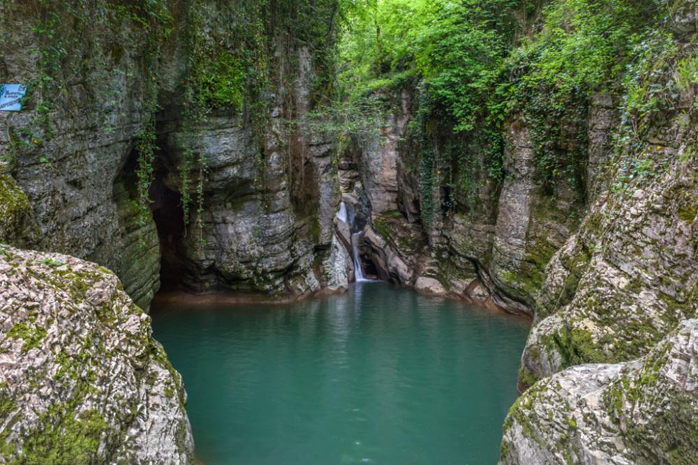 Агурские водопады как добраться на машине